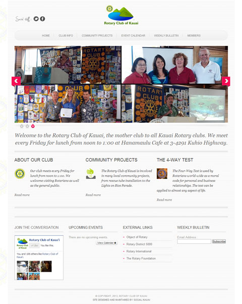 Rotary Club of Kauai Website