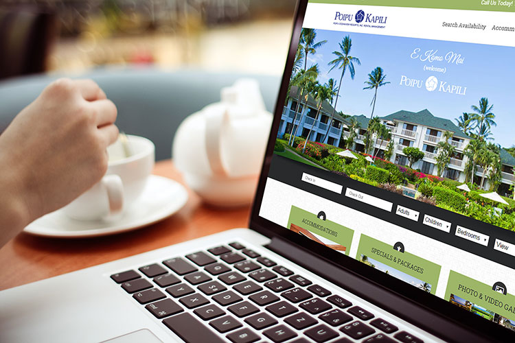 Poipu Kapili Resort Website Mockup