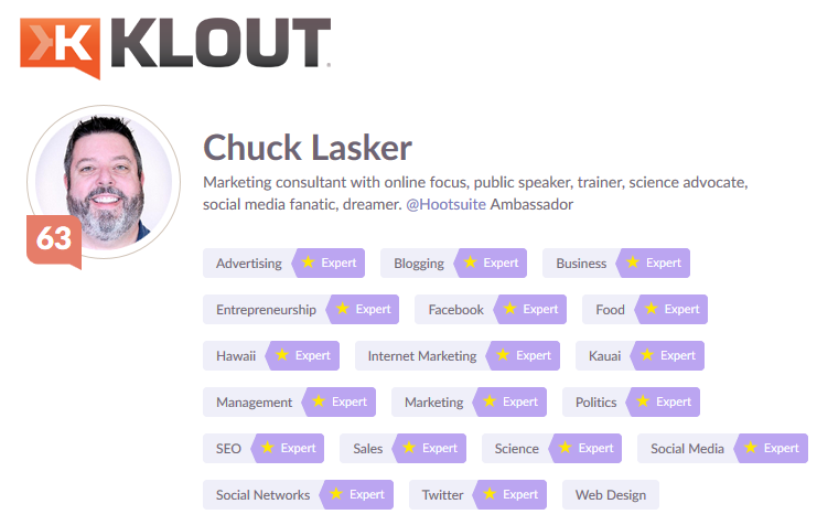 Klout Expertise