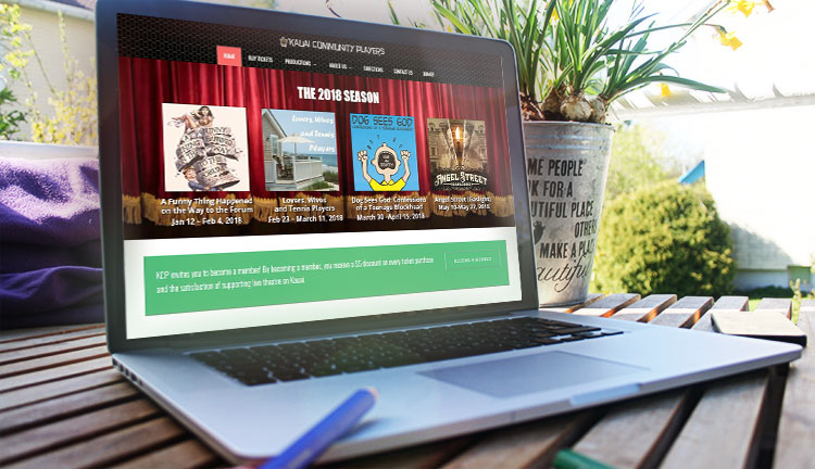 Kauai Community Players Website Mockup